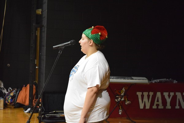 Mackensie Bone performing Silent Night